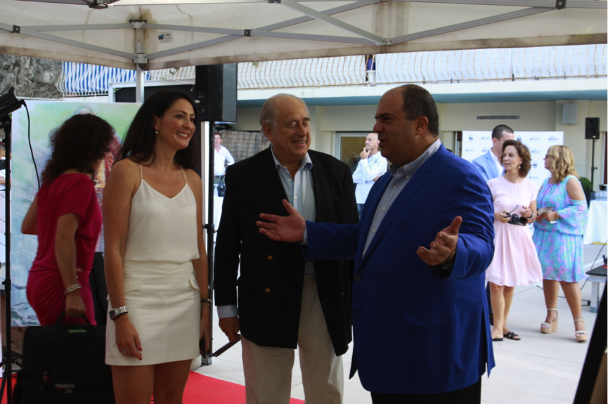 Natalie Clifford, Prince Albert II of Monaco and Sir Stelios Haji-Ioannou