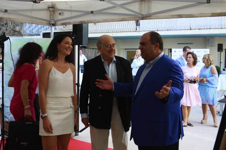 Natalie Clifford, Prince Albert II of Monaco and Sir Stelios Haji-Ioannou