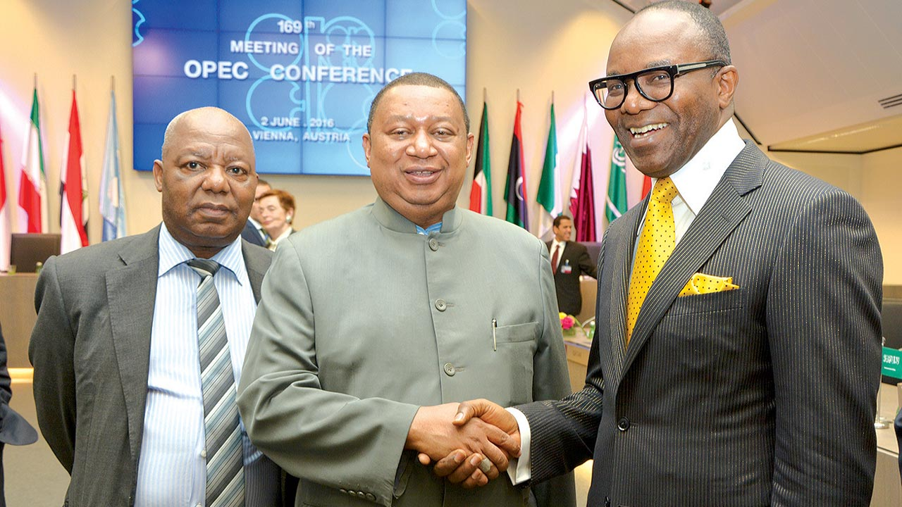 Ibe Kachikwu, Nigeria Minister of Petroleum Resources with Sanusi Barkindo, OPEC Secretary General