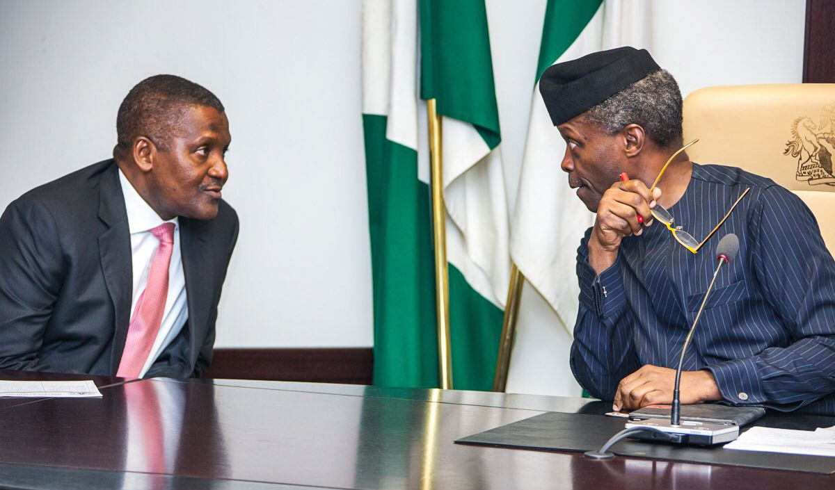 Acting President Osinbajo recently passed an order aimed at promoting transparency in the business sector.
