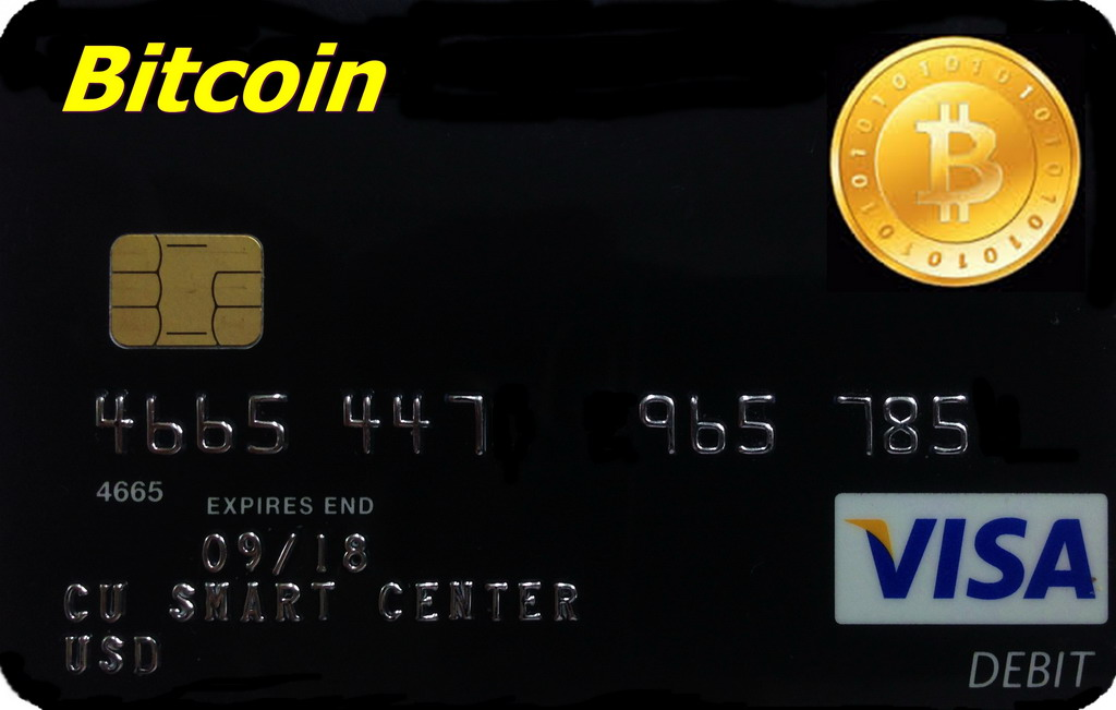 Matched photo of Bitcoin and Visa card Businessamlive