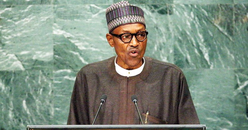 President Muhammadu Buhari addressing World Leaders at the 71st General Assembly of United Nations in New
