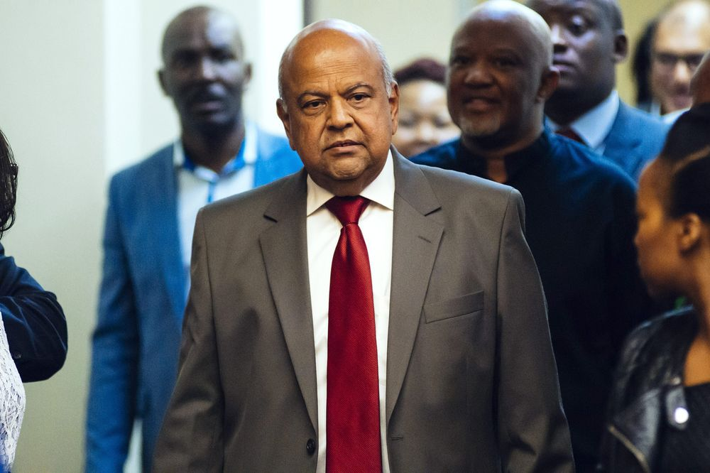 Pravin Gordhan in Pretoria, South Africa,