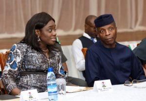 Kemi Adeosun, Nigeria's finance minister and Yemi Osibanjo, Vice president