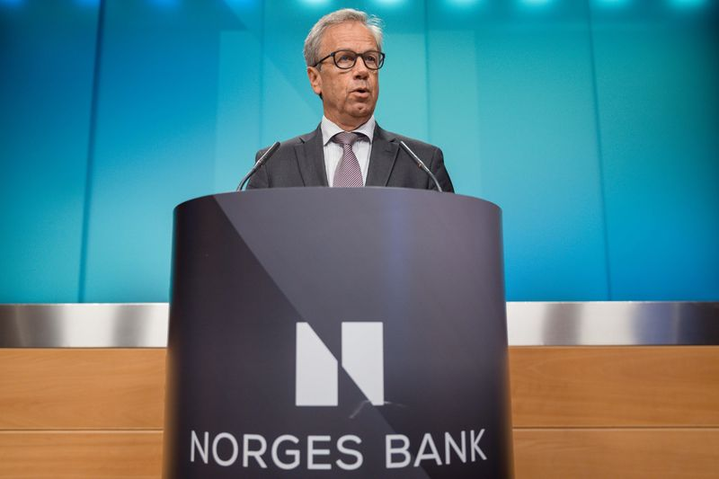 Oeystein Olsen, Norway's central bank governor,