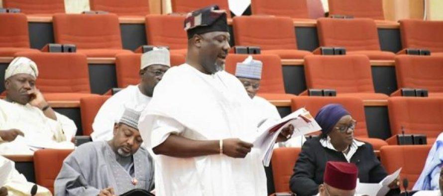 Senator Dino Melaye speaking at the Senate floor