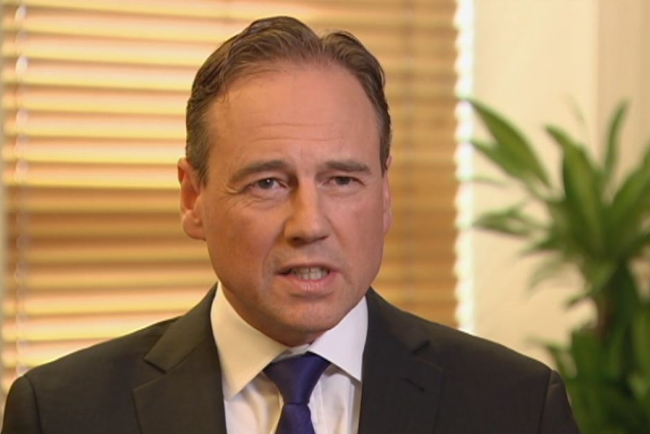 Greg Hunt,Australia health minister