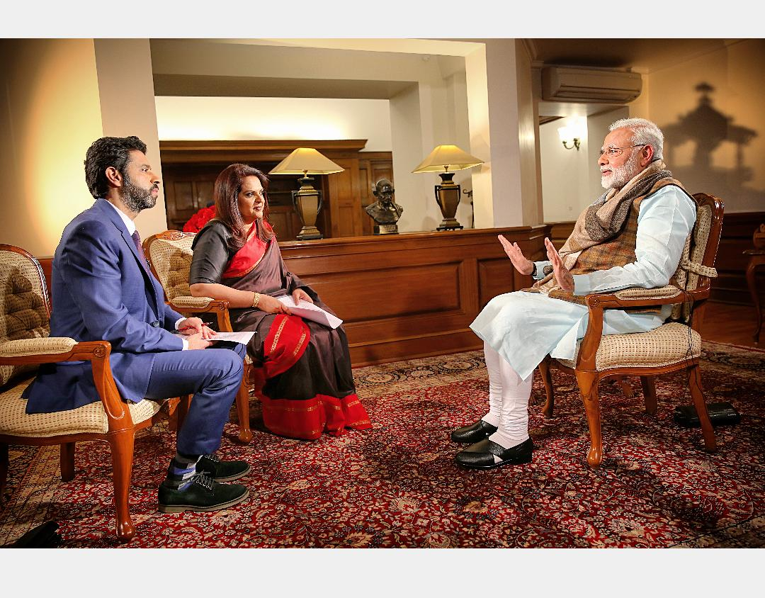 Prime Minister Narendra Modispeaks in an interview