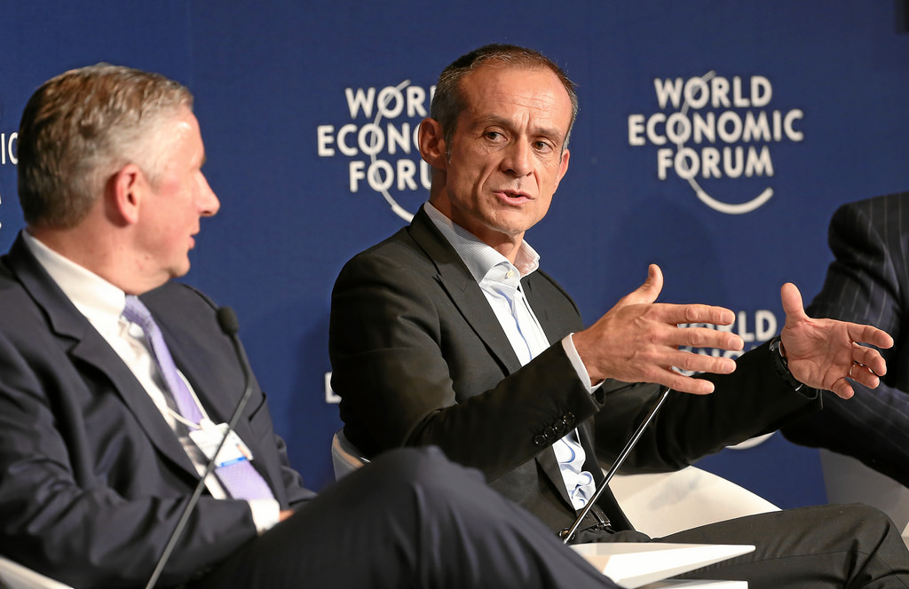 Jean-Pascal Tricoire at the World Economic Forum in Davos, Switzerland
