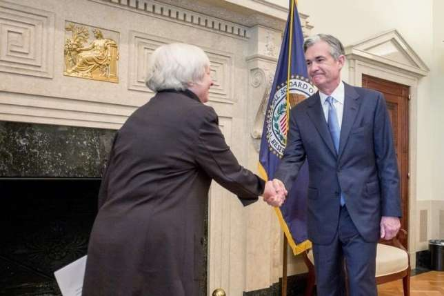 Jerome powell (R), and Ianet yellen