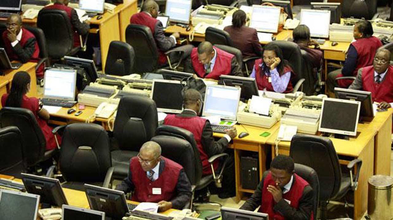 Nigerian stocks exchange trading floor