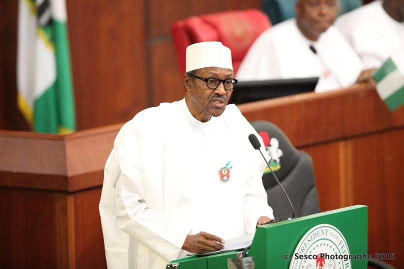 President Muhammadu Buhari at NASS