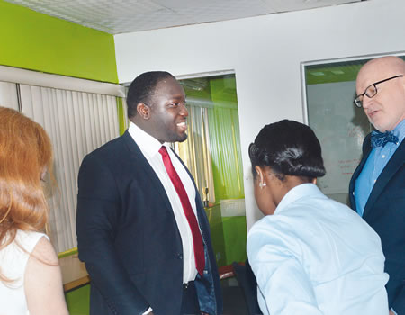 (second left) and other participants at a one-day workhop organised by the company in Lagos recently.