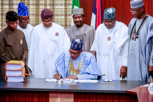 BREAKING: Buhari signs N10.6trn 2020 budget