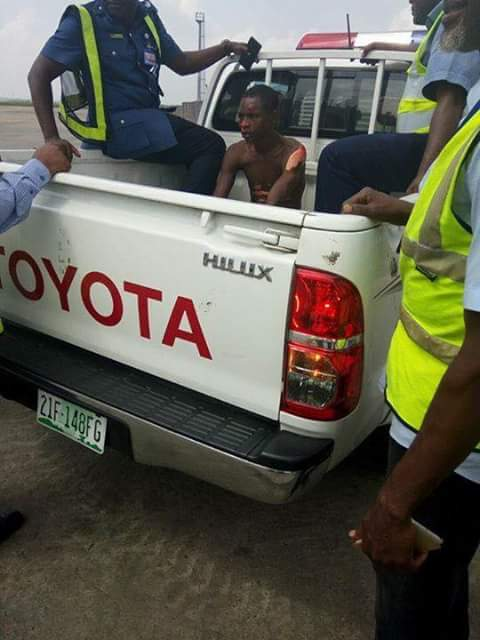 Stowaway apprehended at Lagos airport