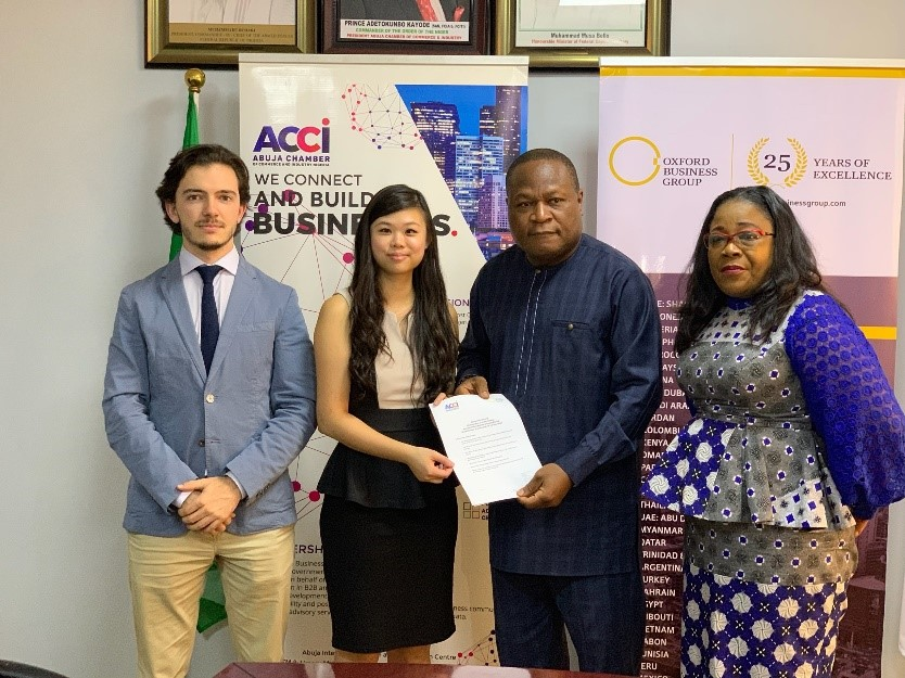 "Oxford Business Group, Abuja Chamber sign MoU for publication of ""The Report: Nigeria 2020"""