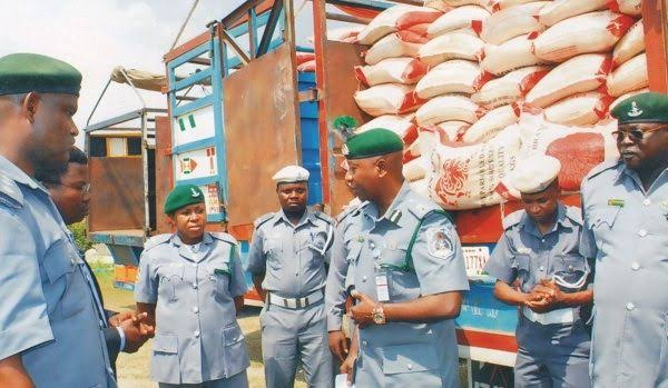 Customs seizes 275 bags of rice, tramadol, others worth N24.1m at Seme border