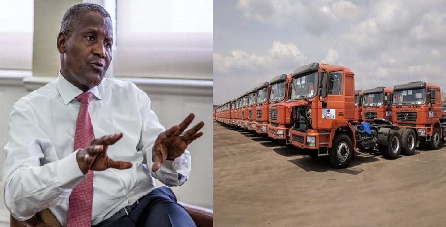 Dangote invests N63bn in locally assembled trucks