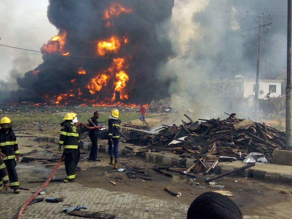 BREAKING: Pipeline explosion rocks Lagos