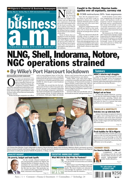 Business a.m. newspaper || Monday – Sunday: 11th – 17th May 2020