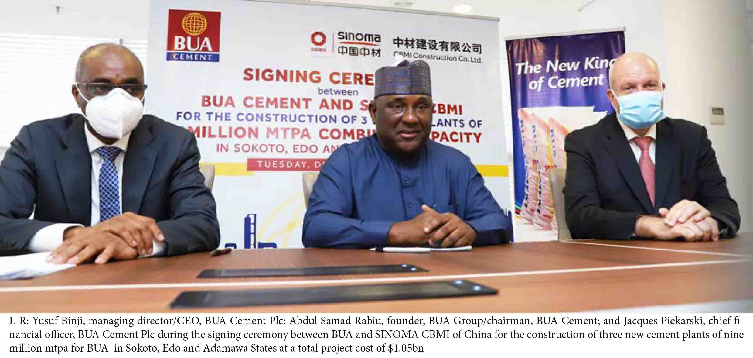 BUA Cement's $1.05bn new Nigeria plants to raise capacity to 20mmt by 2022