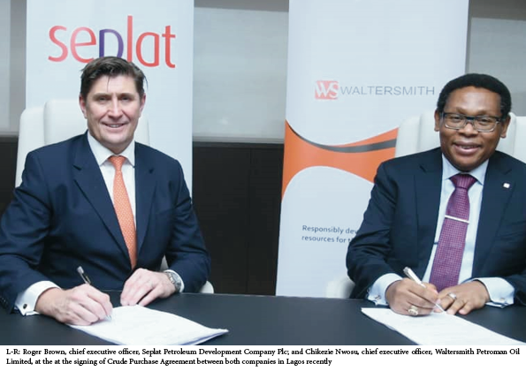 Seplat Petroleum signs crude purchase agreement with Waltersmith refinery