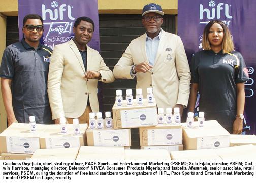Nivea, skincare producer, donates 13,000 hand sanitizers to HiFL