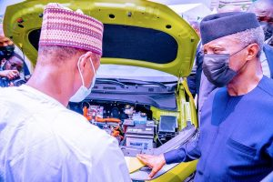 VP delighted over Hyundai Kona Electric Vehicle assembly in Nigeria
